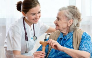 Personal Support Worker with Patient