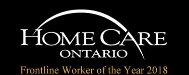 Homecare Ontario - Frontline Worker of the Year 2018