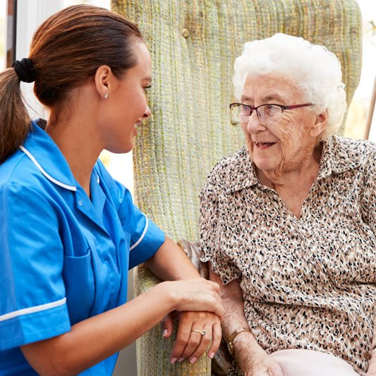 Personal Support Worker with Senior